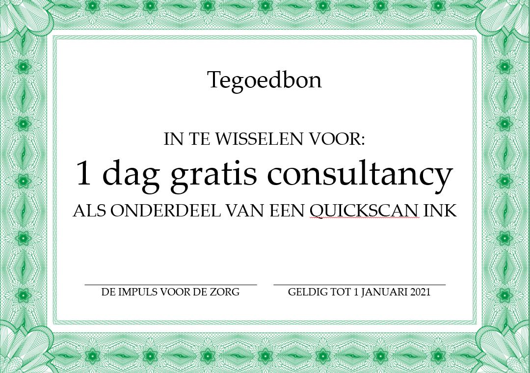 Boek nu een Quickscan en krijg 1 dag consultancy cadeau